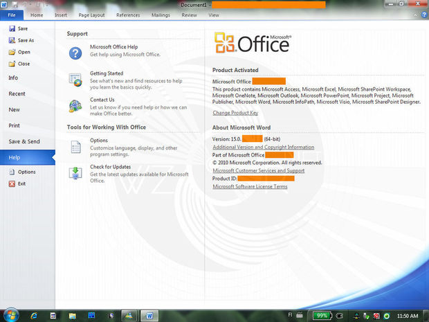 Premier regard sur Office 15
