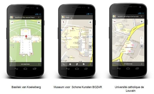 Google Maps en version indoor