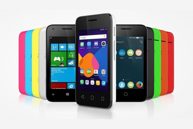 Les smartphones d'Alcatel tourneront sur Android, Windows et Firefox