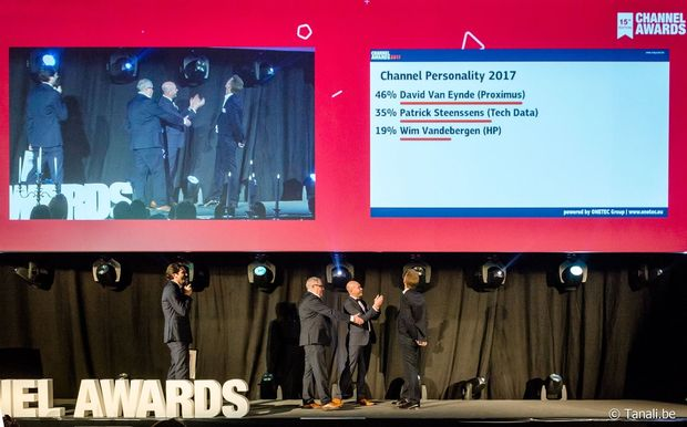 David Van Eynde est la 'Channel Personality 2017'
